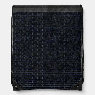 BRICK1 BLACK MARBLE & BLUE STONE DRAWSTRING BAG