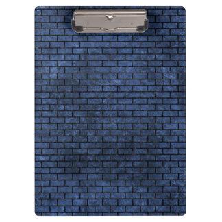 BRICK1 BLACK MARBLE & BLUE STONE (R) CLIPBOARD