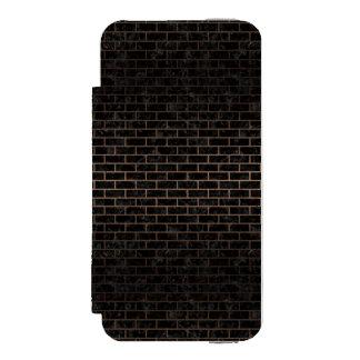 BRICK1 BLACK MARBLE & BRONZE METAL INCIPIO WATSON™ iPhone 5 WALLET CASE