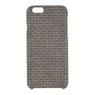 BRICK1 BLACK MARBLE & BROWN STONE CLEAR iPhone 6/6S CASE