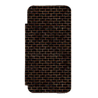 BRICK1 BLACK MARBLE & BROWN STONE INCIPIO WATSON™ iPhone 5 WALLET CASE