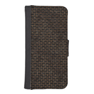 BRICK1 BLACK MARBLE & BROWN STONE iPhone SE/5/5s WALLET CASE