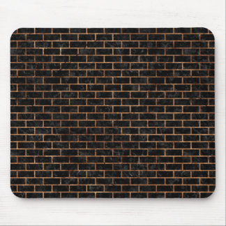 BRICK1 BLACK MARBLE & BROWN STONE MOUSE PAD