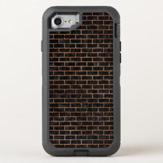 BRICK1 BLACK MARBLE & BROWN STONE OtterBox DEFENDER iPhone 8/7 CASE