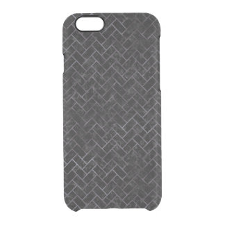 BRICK2 BLACK MARBLE & BLACK WATERCOLOR CLEAR iPhone 6/6S CASE