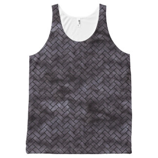 BRICK2 BLACK MARBLE & BLACK WATERCOLOR (R) All-Over PRINT SINGLET