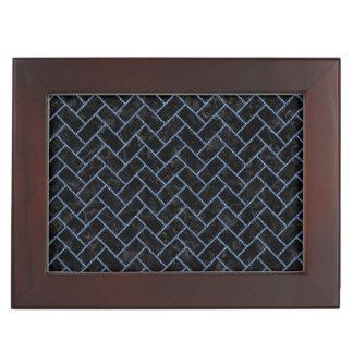 BRICK2 BLACK MARBLE & BLUE DENIM KEEPSAKE BOX