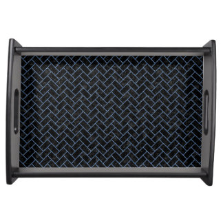 BRICK2 BLACK MARBLE & BLUE DENIM SERVING TRAY
