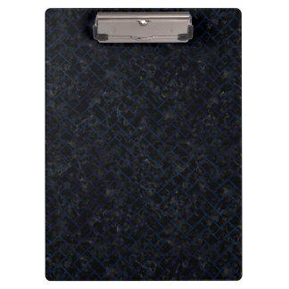 BRICK2 BLACK MARBLE & BLUE GRUNGE CLIPBOARD