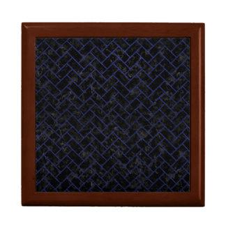 BRICK2 BLACK MARBLE & BLUE LEATHER GIFT BOX