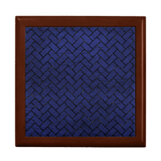 BRICK2 BLACK MARBLE & BLUE LEATHER (R) GIFT BOX