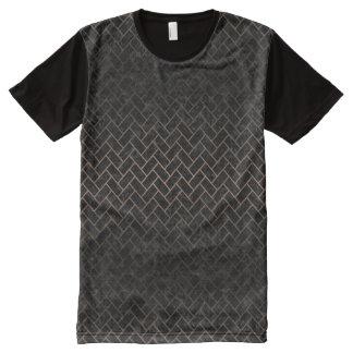 BRICK2 BLACK MARBLE & BRONZE METAL All-Over PRINT T-Shirt