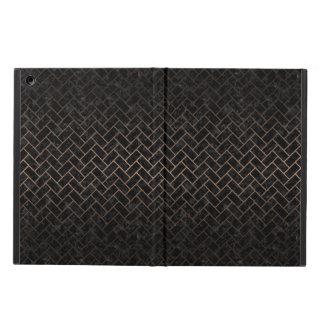 BRICK2 BLACK MARBLE & BRONZE METAL iPad AIR COVER