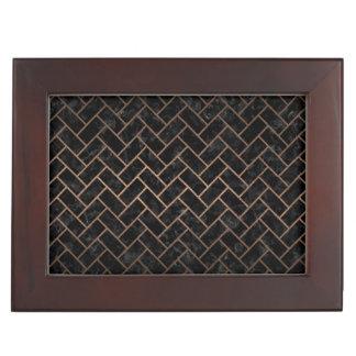 BRICK2 BLACK MARBLE & BRONZE METAL KEEPSAKE BOX