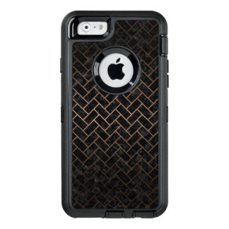 BRICK2 BLACK MARBLE & BRONZE METAL OtterBox DEFENDER iPhone CASE