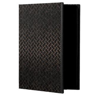 BRICK2 BLACK MARBLE & BRONZE METAL POWIS iPad AIR 2 CASE