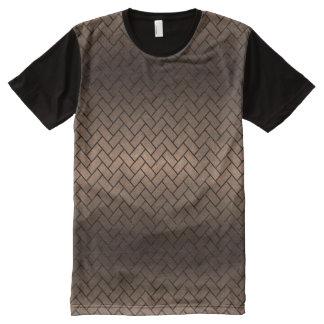 BRICK2 BLACK MARBLE & BRONZE METAL (R) All-Over PRINT T-Shirt
