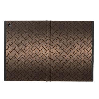 BRICK2 BLACK MARBLE & BRONZE METAL (R) CASE FOR iPad AIR