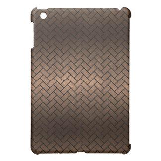 BRICK2 BLACK MARBLE & BRONZE METAL (R) iPad MINI COVER