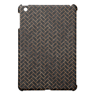 BRICK2 BLACK MARBLE & BROWN STONE COVER FOR THE iPad MINI