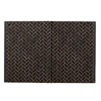 BRICK2 BLACK MARBLE & BROWN STONE iPad AIR COVER