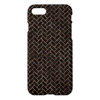BRICK2 BLACK MARBLE & BROWN STONE iPhone 8/7 CASE