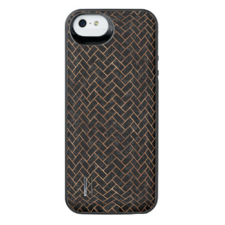BRICK2 BLACK MARBLE & BROWN STONE iPhone SE/5/5s BATTERY CASE