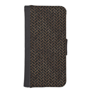 BRICK2 BLACK MARBLE & BROWN STONE iPhone SE/5/5s WALLET CASE