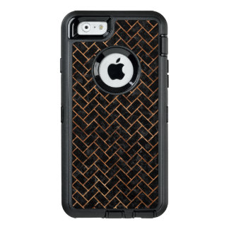 BRICK2 BLACK MARBLE & BROWN STONE OtterBox DEFENDER iPhone CASE
