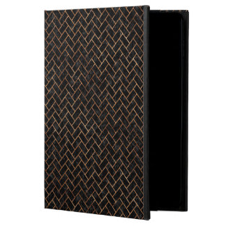 BRICK2 BLACK MARBLE & BROWN STONE POWIS iPad AIR 2 CASE