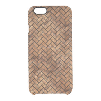BRICK2 BLACK MARBLE & BROWN STONE (R) CLEAR iPhone 6/6S CASE