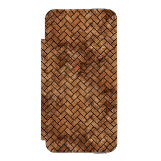BRICK2 BLACK MARBLE & BROWN STONE (R) INCIPIO WATSON™ iPhone 5 WALLET CASE