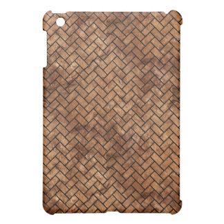 BRICK2 BLACK MARBLE & BROWN STONE (R) iPad MINI CASE