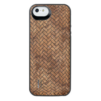 BRICK2 BLACK MARBLE & BROWN STONE (R) iPhone SE/5/5s BATTERY CASE