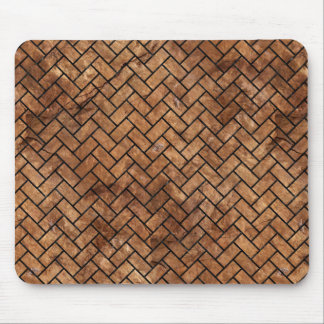BRICK2 BLACK MARBLE & BROWN STONE (R) MOUSE PAD