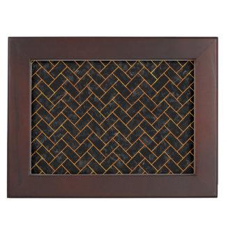 BRICK2 BLACK MARBLE & ORANGE MARBLE MEMORY BOX