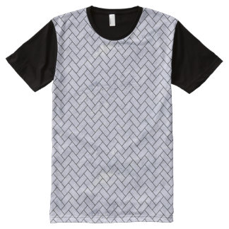BRICK2 BLACK MARBLE & WHITE MARBLE (R) All-Over PRINT T-Shirt