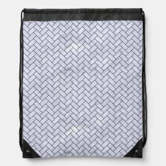 BRICK2 BLACK MARBLE & WHITE MARBLE (R) DRAWSTRING BAG