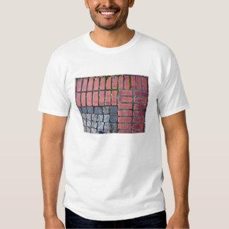 Brick and Stone Pavement Background T-shirts