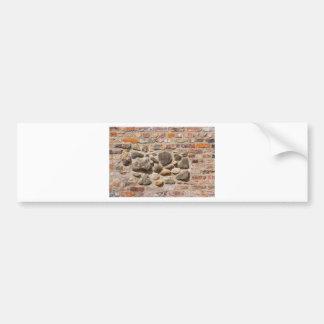 Brick and stone wall bumper sticker