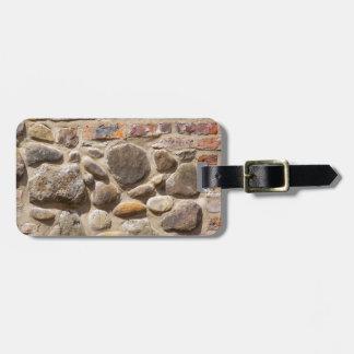 Brick and stone wall luggage tag