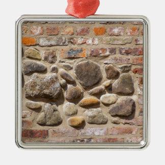 Brick and stone wall metal ornament