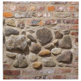 Brick and stone wall napkin