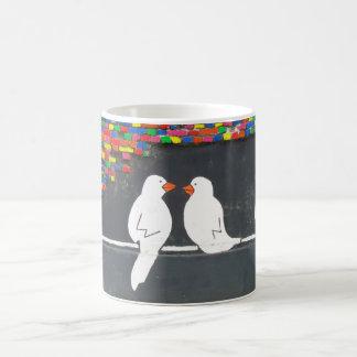 brick bird wall : graffiti wall basic white mug