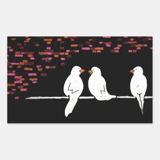 brick bird wall : graffiti wall rectangular sticker