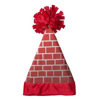 Brick chimney santa hat