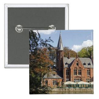 Brick church on Minnewater 15 Cm Square Badge