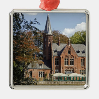 Brick church on Minnewater Metal Ornament