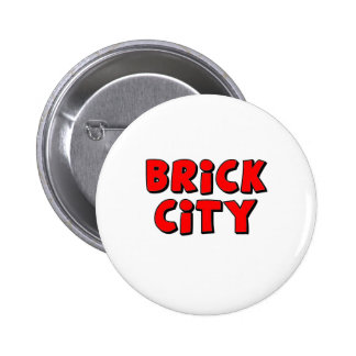 Brick City by Customise My Minifig Pinback Button