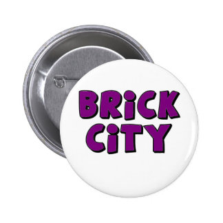Brick City by Customise My Minifig Pinback Buttons